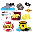 Funny pirate elements isolated on white background vector image vector image