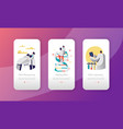 genome dna laboratory character mobile app vector image vector image