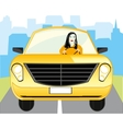 Girl for meat loaf of the car vector image
