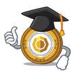 graduation komodo coin character cartoon vector image vector image