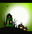 halloween holiday banner night party invitation vector image vector image