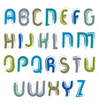 hand-painted capital letters isolated on white vector image vector image