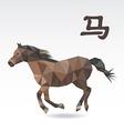 Horse polygon origami zodiac vector image vector image
