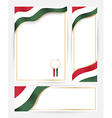Hungary flag banners set vector image