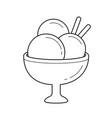 ice-cream line icon vector image vector image