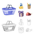 isolated object of food and drink symbol set of vector image