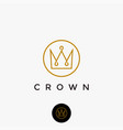 lineart crown logo icon template vector image