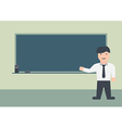 Male teacher and blackboard flat graphic vector image vector image