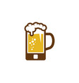 mobile beer logo icon design vector image vector image