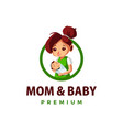 mom and bathump up mascot character logo icon vector image vector image