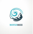 mountain logo design idea with mountain shape and vector image vector image