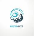 mountain logo design idea with shape vector image