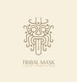 myanmar tribal style line art symbol vector image