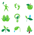 nature set symbols vector image vector image