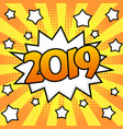 new year 2019 poster vector image vector image