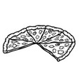 pizza slice isolated on white background design vector image