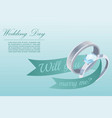 proposal and engagement silver ring with diamond vector image vector image