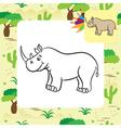 rhino coloring page vector image vector image