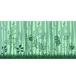 Seamless horizontal pattern with herbs and trees vector image