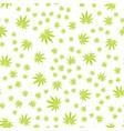 seamless texture marijuana five vector image vector image