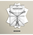 Set of brochures with simple lines on covers vector image