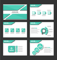 Shadow green presentation templates Infographic vector image vector image