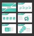 Shadow green presentation templates Infographic vector image vector image