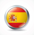 Spain flag button vector image vector image