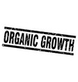 square grunge black organic growth stamp vector image vector image