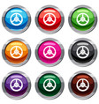 steering wheel set 9 collection vector image