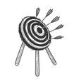 target with arrows sketch engraving vector image vector image