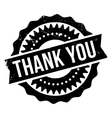 Thank you stamp vector image vector image