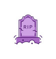 tombstone icon rip inscription colorful flat vector image