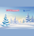 winter landscape light background vector image vector image