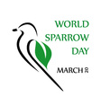 World Sparrow Day- March 20 vector image vector image