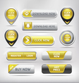 Yellow Glossy Web Elements Button Set