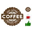 zero caffeine reward stamp with dust effect vector image