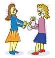 a child like mum and baby vector image