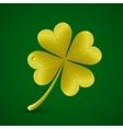 Four leaf clover St Patricks day symbol vector image