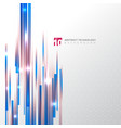 abstract technology blue and red color straight vector image vector image