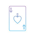 ace of spades french playing cards related icon vector image vector image