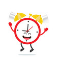 alarm clock in cartoon style vector image vector image