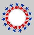 american flag symbols round border vector image vector image