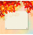 Autumn background with plastered wall billboard vector image
