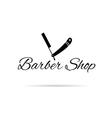 barber shop icon in black vector image