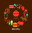 bbq grill postcard vector image vector image