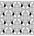 black and white paisley seamless pattern vector image vector image