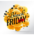 black friday design with bright yellow spheres vector image vector image