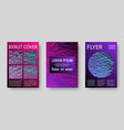 booklet design layouts set vector image vector image