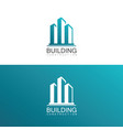 building construction logo vector image vector image